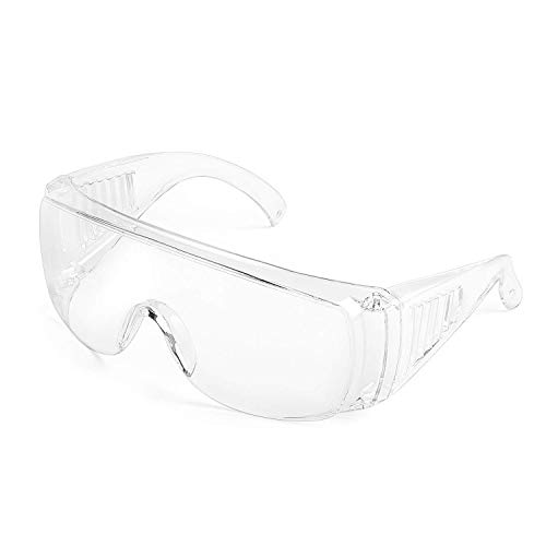 Deyard Safety Glasses with Anti-Splash Resistant Lenses, Glasses with Soft Nose Piece, Lightweight and Comfortable to Wear (1PCS)