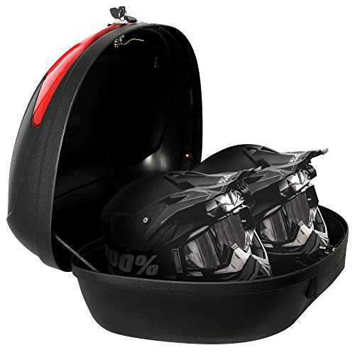 Todeco - Universal Top Case, Motorcycle Case - Material: PP - Size: 59.5 x 43.5 x 31 cm - Black, 52 Liter (s)