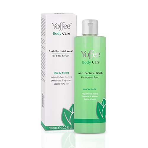 Yoffee - Antibacterial and Antiseptic Shower Gel, for Body, Hands and Feet, Shower Soap, Prevents and Eliminates bacteria, Moisturizes, Calms and Eliminates bad odors, Paraben Free, Vegan, 300ml