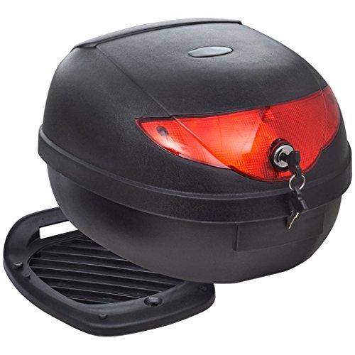 vidaXL Luggage Storage Box Motorcycle Helmet 36 L Black Luggage Motorcycle